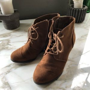 Faux Suede Ankle Boot Wedges